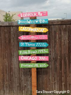 Travel sign for all our favorite places we have been.