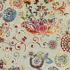 Gobelin Ornament - Baumwolle - Polyester - Polyacryl - Farbmix