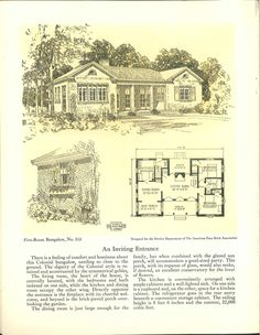 Five-room face brick bungalow and small house p...