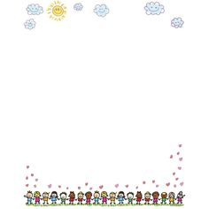 Happy Birthday Frame, Birthday Frames, Letterhead Design, Stationery Design, Kindergarten Portfolio, Education Logo Design, Free Printable Stationery, Boarder Designs, Cute Instagram Captions