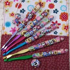 Crochet Hook Case with Set of Susan Bates by polymerclayshed
