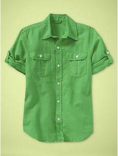gap kids-- for will, lots of color options Convertible garment-dye shirt   Gap