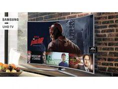 """Smart TV LED Curva 55"""" Samsung 4K Ultra HD - KU6500 Conversor Digital Wi-Fi 3 HDMI 2 USB com as melhores condições você encontra no Magazine Vrshop. Confira!"""