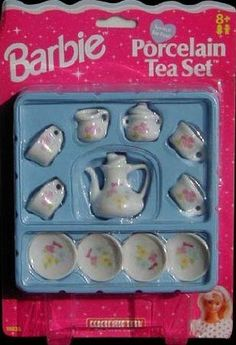1997 Barbie Porcelain Tea Set by Mattel. $12.00