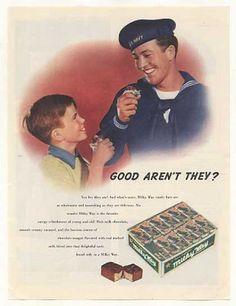 Milky Way Candy Bar US Navy Sailor Boy (1943)