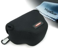 MegaGear ''Ultra Light'' Neoprene Camera Case Bag for Canon PowerShot SX400 IS, Canon SX510, SX500 ,Black - For Sale