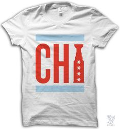 Chicago is the city! Digitally printed on a 100% ring-spun white cotton t-shirt…