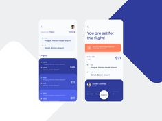Flights Booking App Concept by Lay - Lisette Wiersma - Dekoration Ios App Design, Mobile App Design, User Interface Design, Mobile Ui, Ui Design Tutorial, Design Tutorials, O Design, Layout Design, App Log