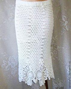 Юбки ручной работы. Ярмарка Мастеров - ручная работа. Купить Белая вязаная юбка. Handmade. Белый, весенняя мода, юбка