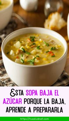Diabetic Recipes, Healthy Recipes, Soup Recipes, Cooking Recipes, Chowder Soup, Cure Diabetes Naturally, Portuguese Recipes, The Cure, Food And Drink