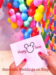 Excited to share this item from my shop: Happy Tears Disney Wedding Handkerchief Embroidered Monogrammed Mickey Mouse custom handkerchiefs hankie gift Disney Cruise Wedding, Disney Bride, Disney Honeymoon, Disney Weddings, Romantic Honeymoon, Honeymoon Ideas, Fairytale Weddings, Cinderella Wedding, Wedding Vows