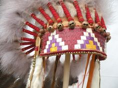 Porcupine quill work browband.