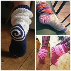 Fancy, cozy, colourful! Begin at the heel and quickly work your way up the leg and down to your toes. Fun to make, even more fun to wear!