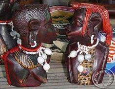Maasai couple bust from Kenya Kenya, Wood Art, Hand Carved, Carving, African, Couples, Wooden Art, Wood Carvings, Sculptures