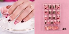 Find More False Nails Information about 24pcs false nails decorated dot Stripe Beauty womens short false nails resin full cover nail art for bride/christmas/girl/lady,High Quality nail art design machine,China arts crafts furniture sale Suppliers, Cheap nail pillow from Fashion MY life on Aliexpress.com