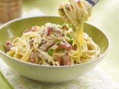Heerlijk spagetti Carbonara recept.