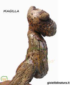 "Driftwood art. ""Magilla"", Woodys©. Clik per info."