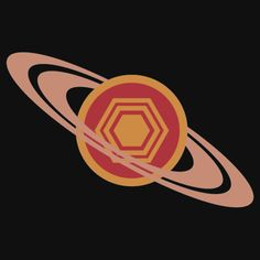 Because Saturn has a hexagon storm! #space #astronomy http://www.redbubble.com/people/jezkemp/works/12440654-saturns-hexagon