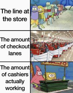 Funny Spongebob Memes, Love Memes Funny, Stupid Funny Memes, Funny Relatable Memes, Haha Funny, Funny Stuff, Bruh Meme, Stupid Stuff, Funny Vid