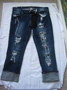 Juniors Red Rivet Women's Blue Stretch Pants Roll Up Capri Jeans  SZ 13 NWT #RedRivet #CaprisCropped