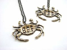 golden crab bff necklace set - best friends jewelry via Etsy