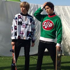 OH MY GOODNESS! OMG! Guys, you just killed me with this photo!! xx | Bang Minsoo (C.A.P), Ahn Daniel (Niel) | Teen Top
