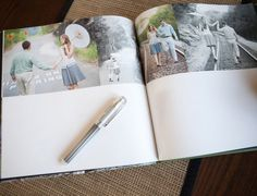Engagement Photo wedding guest registry book - I will have one of these!