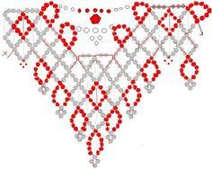 """Колье """"Морская звезда"""" и """"Скромница"""" / Колье, бусы, ожерелья / Biserok.org"""