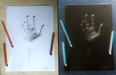 Hand drawing. Normal and inverted version..