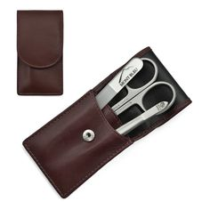 Hans Kniebes Sonnenschein Best Manicure Set Nappa Leather Case Bordeaux for sale online