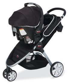 Amazon.com : Britax 2014 B-Agile and B-Safe Travel System, Black : Infant Car Seat Stroller Travel Systems : Baby