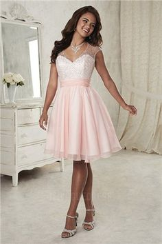 2018 Sleeveless A-line Sweetheart Lace Up Beads Chiffon Pink Short Length  Prom   Evening Dresses 52388 6fdd2bb7177b