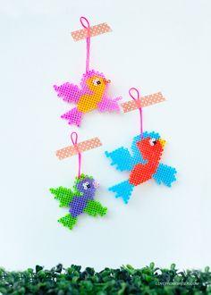 DIY Flying Hama Bead Birds | Love From Ginger