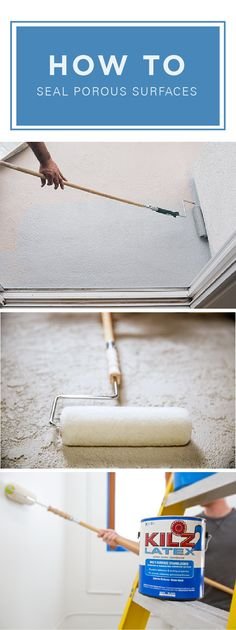 No matter how old or weathered the surfaces of your home are, it's easy to give them a modern update with KILZ 2 Latex Primers.  Learn how to seal porous surfaces and make all of your DIY home decor projects that much more beautiful with this painting tutorial.