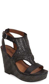 purr -- Lucky Brand 'Laffertie' T-Strap Wedge Sandal (Women)  -- http://www.hagglekat.com/lucky-brand-laffertie-t-strap-wedge-sandal-women/