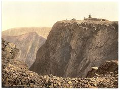 The Summit, Ben Nevis, Fort William, Scotland - Picture produced using the Photochrom system - Inverness Shire, Aberdeenshire Scotland, Scottish People, Ben Nevis, Fort William, Great Britain, Old Photos, Wonders Of The World, Monument Valley