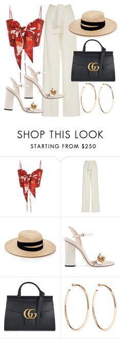 """""""Untitled #22007"""" by florencia95 ❤ liked on Polyvore featuring Johanna Ortiz, Janessa Leone, Gucci and Jennifer Fisher"""