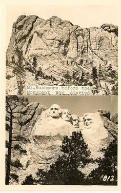 Mt. Rushmore: before and after