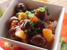 Sweet and Sour Meatballs recipe from Ree Drummond via Food Network