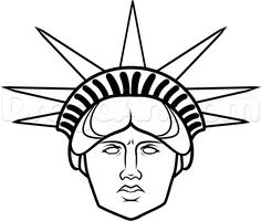 how to draw statue of liberty face step 10