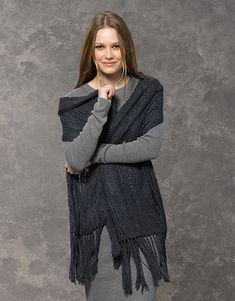 Book Woman Concept 2 Autumn / Winter | 39: Woman Shawl | Dark grey