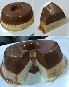Receita de Pudim Prestígio Ingredients: Chocolate pudding: 1 can of condensed milk 1 can of cream Jello Recipes, Pudding Recipes, Delicious Desserts, Yummy Food, Galette, Love Cake, Mousse, Sweet Recipes, Cheesecake