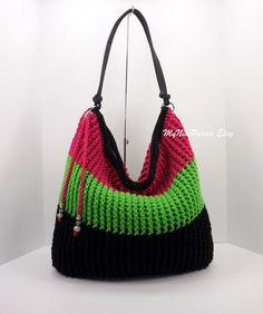 Ganchillo crochet sobre tamaño bolso bolso de por MyNicePurses
