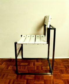 Fire hose chair without armrests by OBGETTI