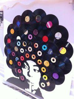 Resultado de imagen de decoracion de fiestas con discos de vinilo
