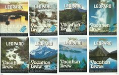Leopard Brewery Beer Labels Vacation Brew | Trade Me