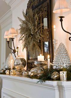 Romantic Silver and White Christmas Decor