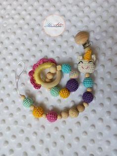 Lant suzeta crosetata din bumbac si jucarie pentru bebe Crochet Necklace, Blog, Fine Dining, Blogging