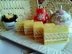 Tvarohové rezy (fotorecept) - Recept Sweet Recipes, Cake Recipes, Dessert Recipes, Czech Recipes, International Recipes, Cake Decorating, Sweet Tooth, Cheesecake, Food And Drink