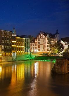 Opole by night, Poland   - Explore the World with Travel Nerd Nici, one Country at a Time. http://TravelNerdNici.com